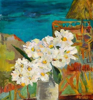 Fleurs du soleil    28 x 25 po / 71 x 63 cm