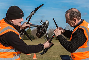 David Hart & Howard Rockliffe with Inspire 2 Drone on bristol Durdam Downs