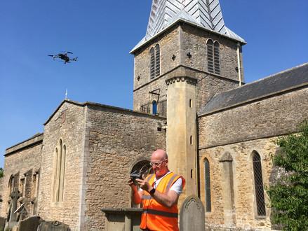 St Mary's Church Almondsbury near Bristol gets its new bells.
