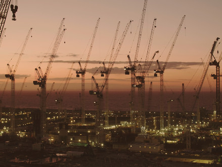 Hinkley Point C Cranes Sunset