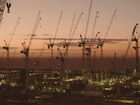 Hinkley Point C Cranes Sunset