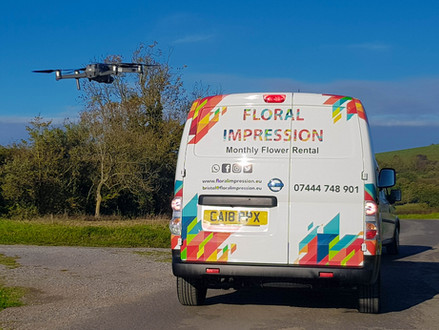 Floral Impression UK hires the DJI Mavic 2 Pro for their sales video. www.floralimpression.eu