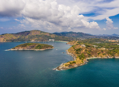 A view of the southern tip of Phuket, Thailand