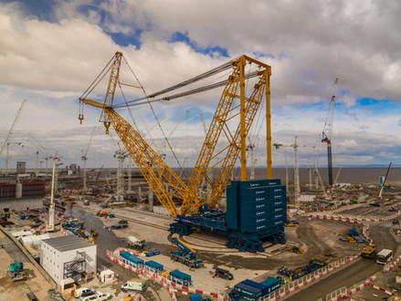Big Carl world's largest crane in operation at #Hinkley Point C