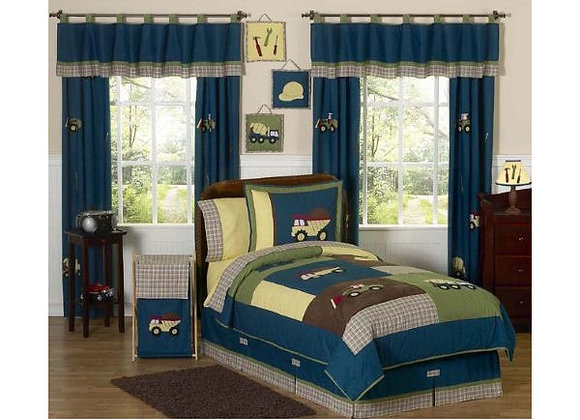 Sweet JoJo Designs Construction Zone Quilt and Sham Bedding Set