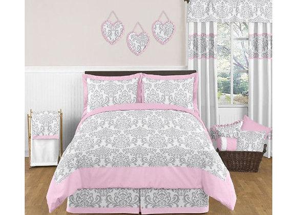 Sweet JoJo Designs Pink and Gray Elizabeth Bedding Set