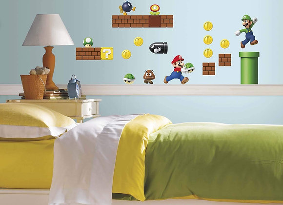 Super Mario Build a Scene Peel and Stick Wall Decals