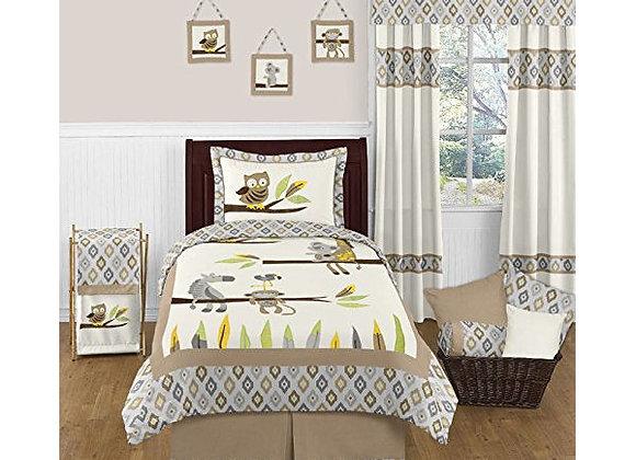 Sweet JoJo Designs Jungle Animal Ikat Bedding Set