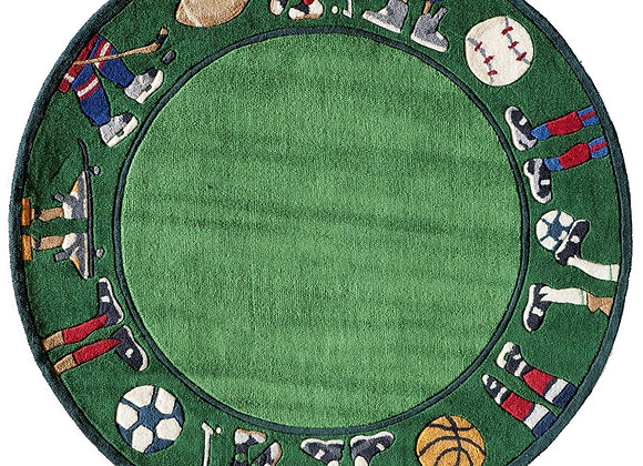 Momeni Kids Golf Green Hand Carved and Tufted Kids Area Rug