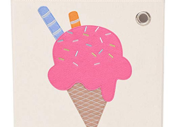 Strawberry Ice Cream Storage Canvas Cube