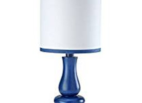 Little Love Navy Blue and White Table Lamp and Shade
