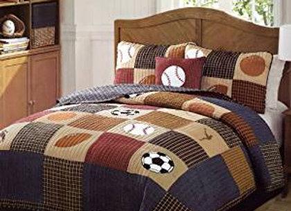 Pem America Classic Sports Quilt & Sham Bedding Set