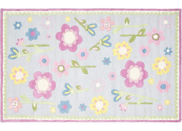 Safavieh Kids Gray and Pink Flower Wool Area Rug