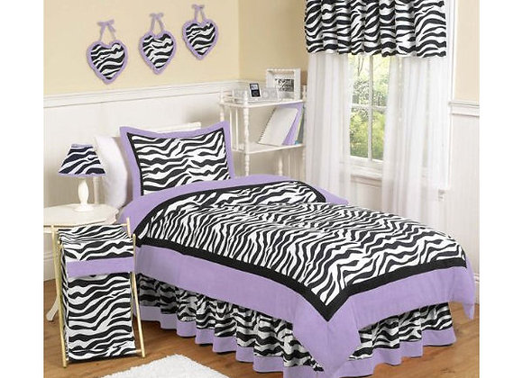 Sweet JoJo Designs Purple Funky Zebra Bedding Set