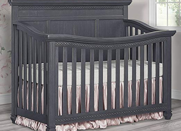 Madison 5 in 1 Solid Wood Crib in Weathered Gray