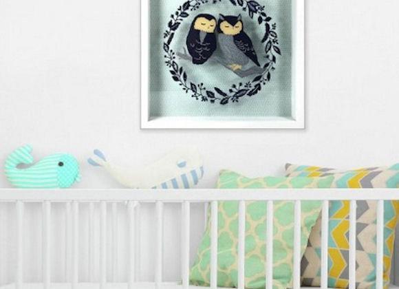 Roommates Patina Vie Owls On A Branch Shadowbox