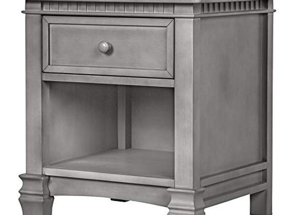Santa Fe Fluted Nightstand in Storm Gray