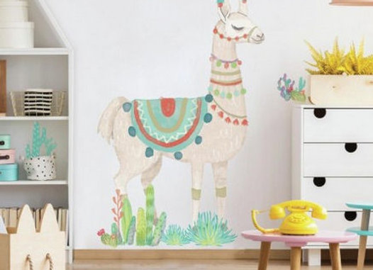 Roommates Llama Giant Peel and Stick Wall Decals