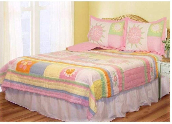Mari Garden Twin Quilt and Sham Set