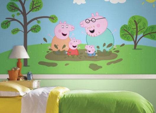 Peppa Pig Surestrip Wall Mural 10.5' x 6