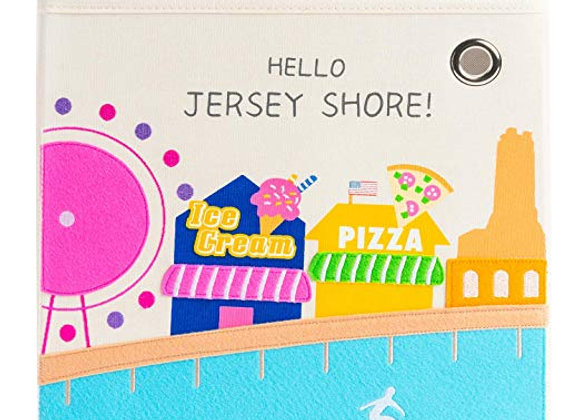 Hello Jersey Shore Storage Canvas Cube