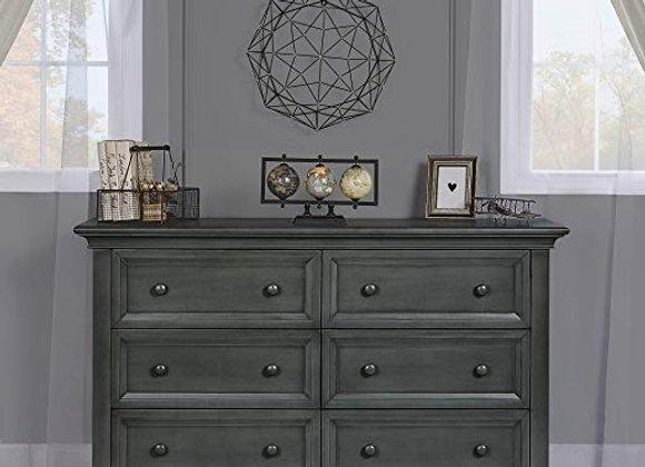 Napoli Double Dresser in Antique Gray