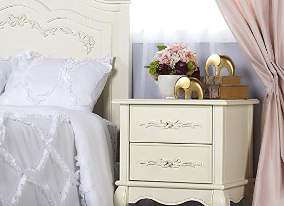 Aurora Nightstand in Ivory Lace