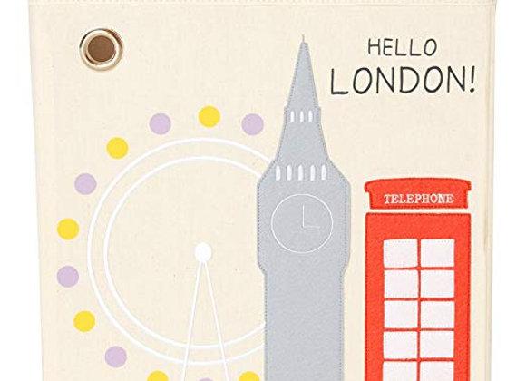 Hello London Storage Canvas Cube