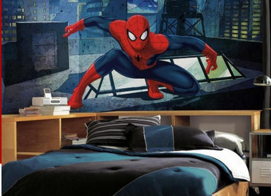 Ultimate Spiderman Cityscape XL Surestrip Wall Mural 10.5' x 6'