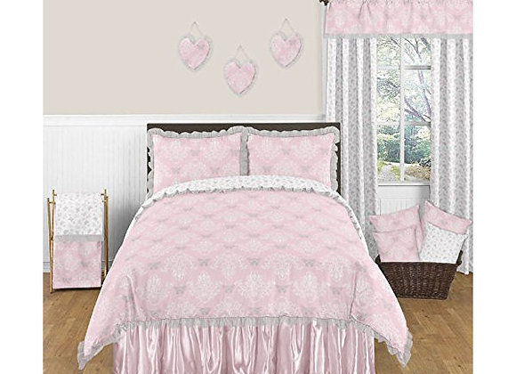 Sweet JoJo Designs Alexa Damask Quilt and Sham Bedding Set