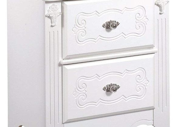 2 Drawer Exquisite White Nightstand