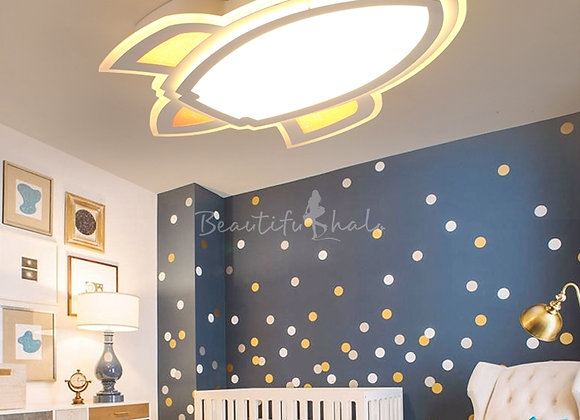 Rocket Ship LED Flush Mount Ceiling Light