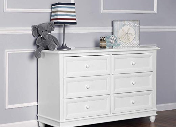 Hampton Double Dresser in White