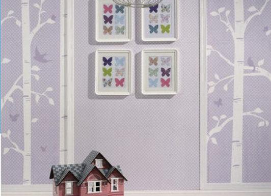 Garden Birds and Butterflies Wallpaper Mural