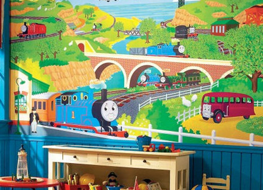 Thomas and Friends XL Surestrip Wall Mural 10.5' x 6'