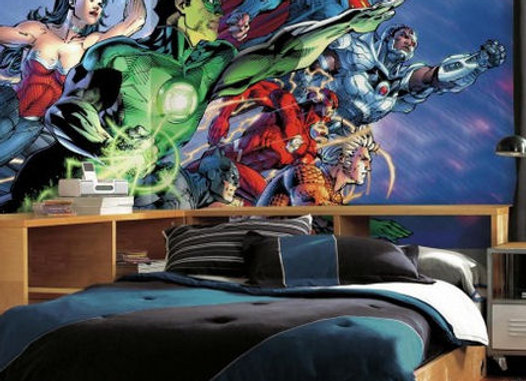 Justice League Surestrip Wall Mural 10.5' x 6