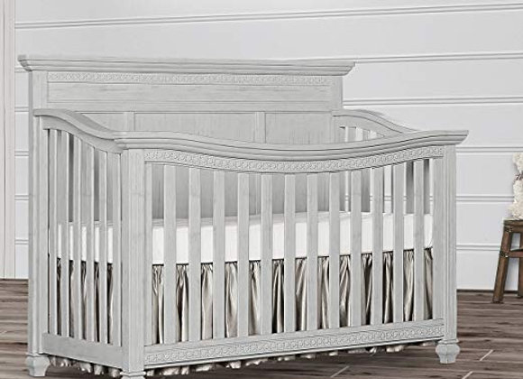 Madison 5 in 1 Solid Wood Flat Top Crib in Gray Mist