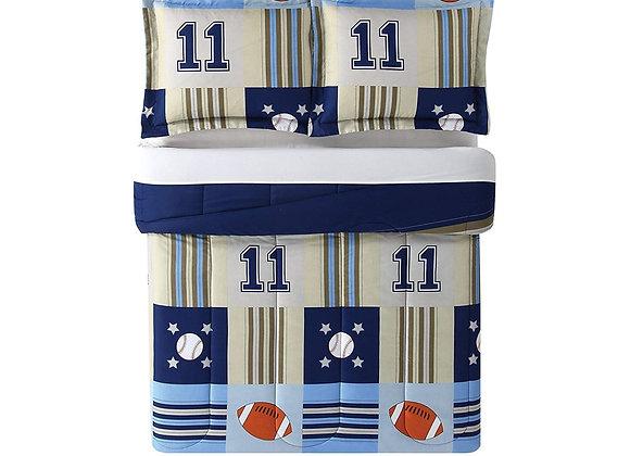 Laura Hart Sports Comforter and Sham Bedding Set