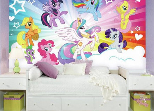 My Little Pony Cloud Burst Surestrip Wall Mural 10.5' x 6'