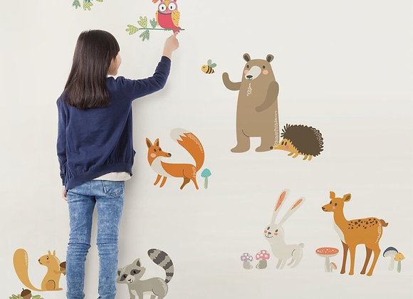 Simple Shapes Forest Animals Peel and Stick Wall Decals