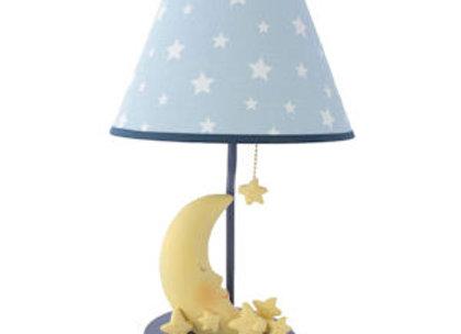 Sleepy Moon and Stars Nursery Table Lamp