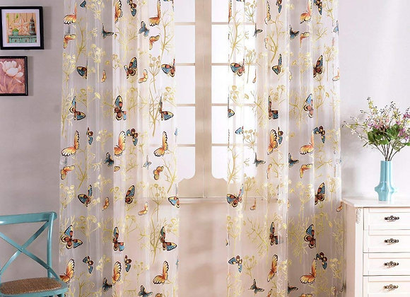 Set of 2 Sheer Voile Butterfly Grommet Drapes