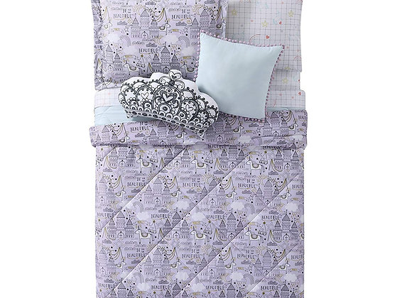 Laura Hart Unicorn Princess Comforter and Sham Bedding Set