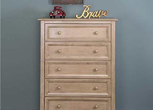 Hampton 5 Drawer Dresser in Weathered Natural
