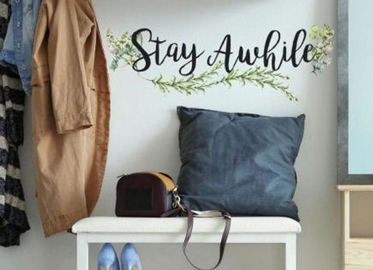 Roommates Stay Awhile Peel and Stick Wall Decals