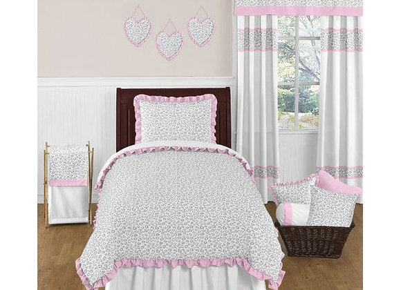 Sweet JoJo Designs Pink and Gray Kenya Bedding Set