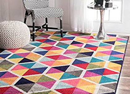 Multi Maris Triangles Kids Area Rug