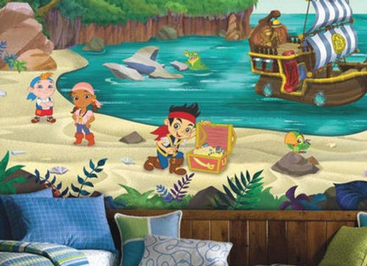 Jake and the Neverland Pirates XL Surestrip Wall Mural 10.5' x 6'
