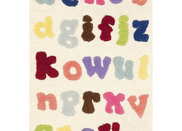 Safavieh Kids Ivory Colorful Alphabet Wool Area Rug