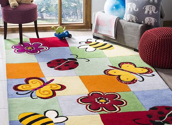 Safavieh Kids Multi Block Butterfly Wool Area Rug
